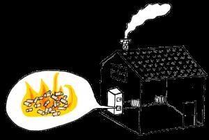Illustration på system med Pelletspanna
